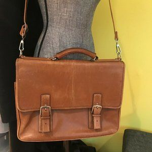 Coach Thompson Executive Brown Leather Laptop Bag